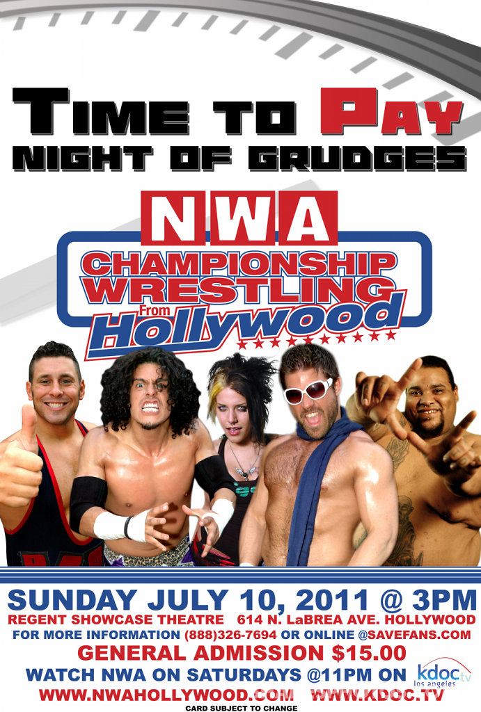 Championship Wrestling from Hollywood - Time Pay Event Poster