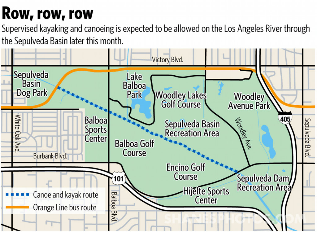 Los Angeles River Canoeing and Kayaking Route