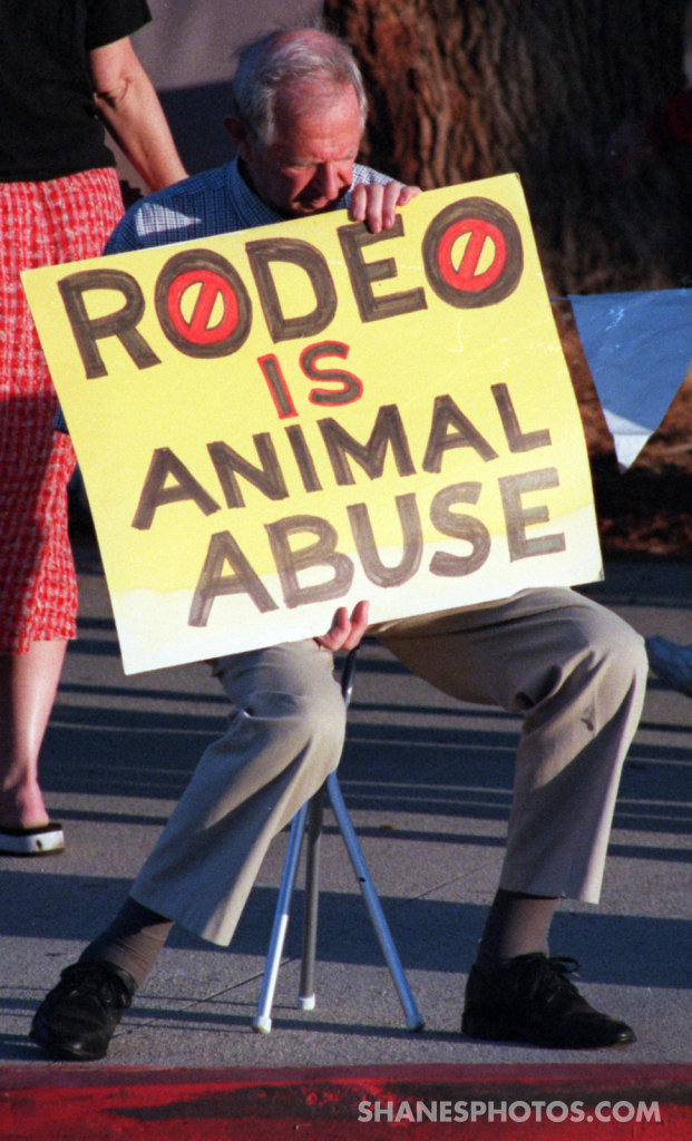 Rodeo Protest at Los Angeles Pierce College