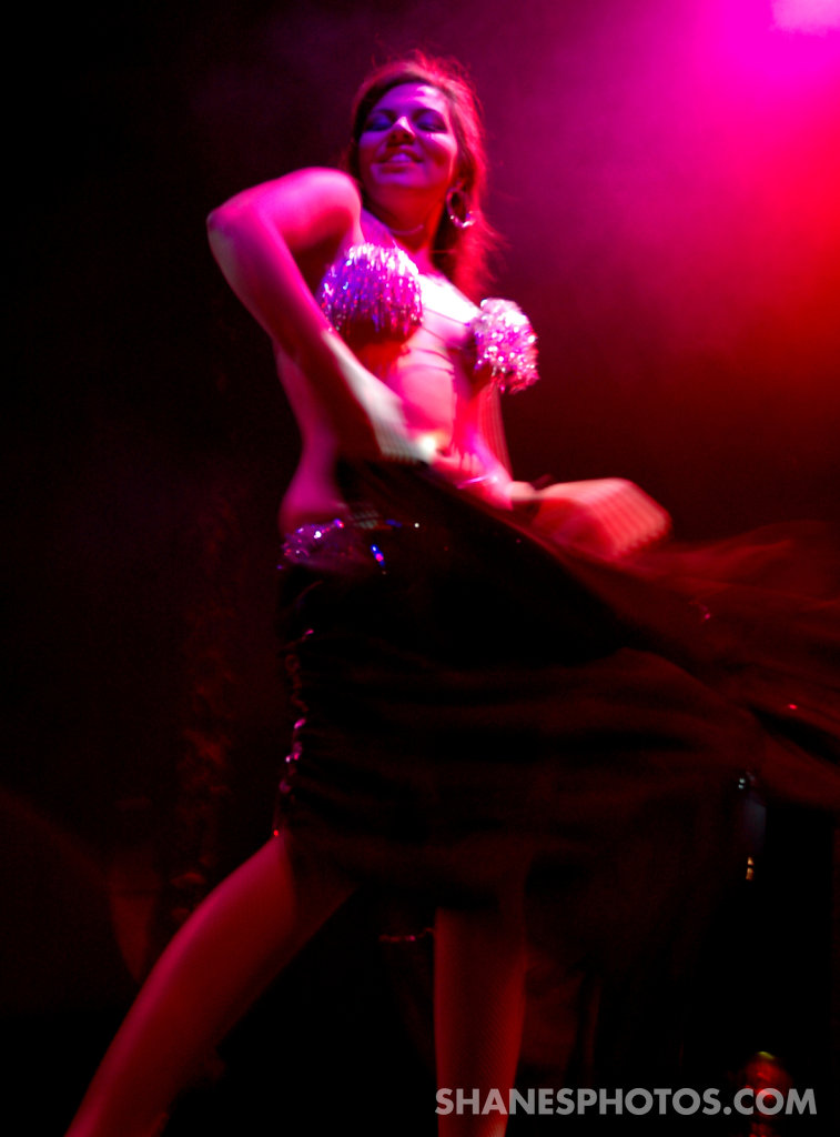 Burlesque Dancer at Lucha Va Voom
