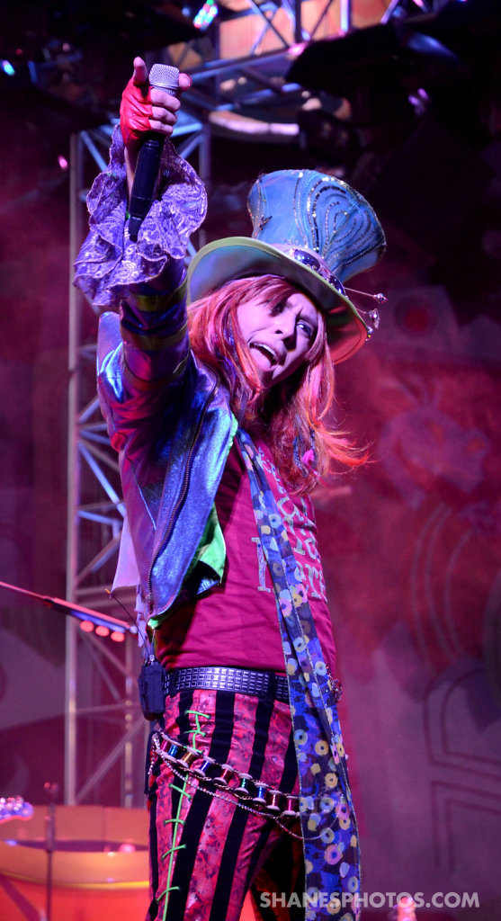 The Mad Hatter preforms at Mad T Party at Disney California Adventure