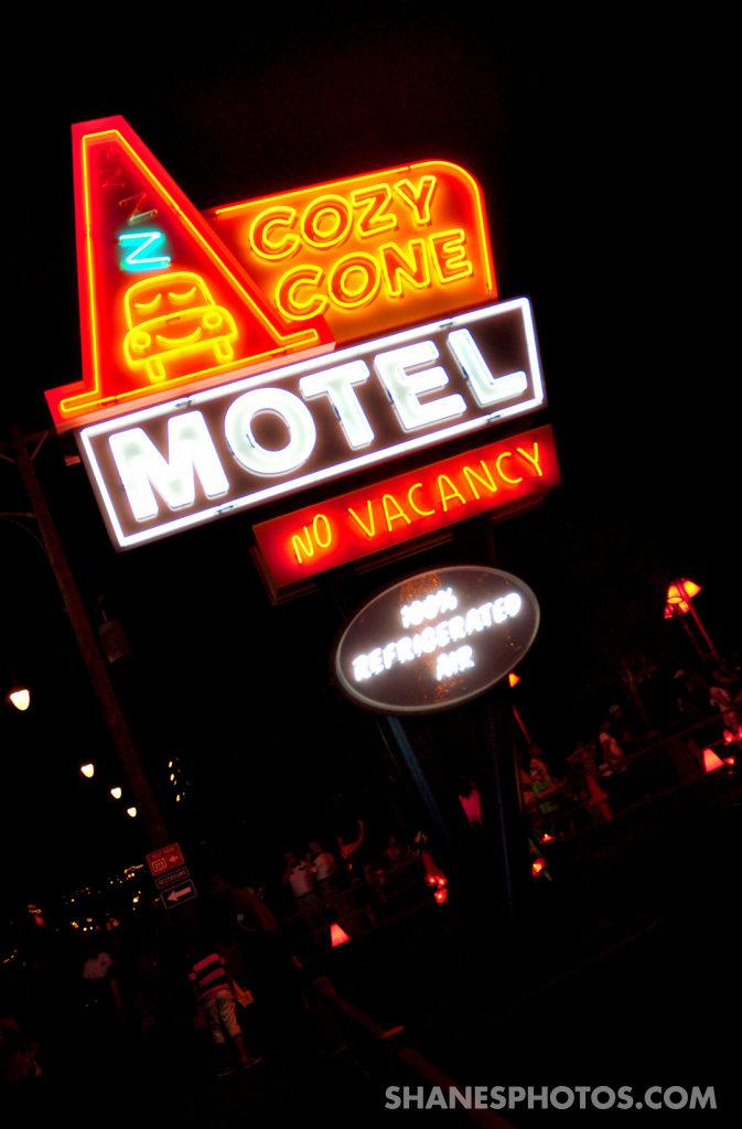 Cozy Cone Motel sign at Disney California Adventures