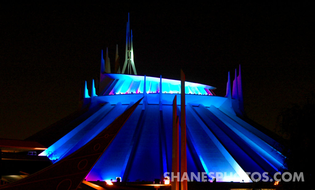Space Mountain in Tomorrowland at Disneyland