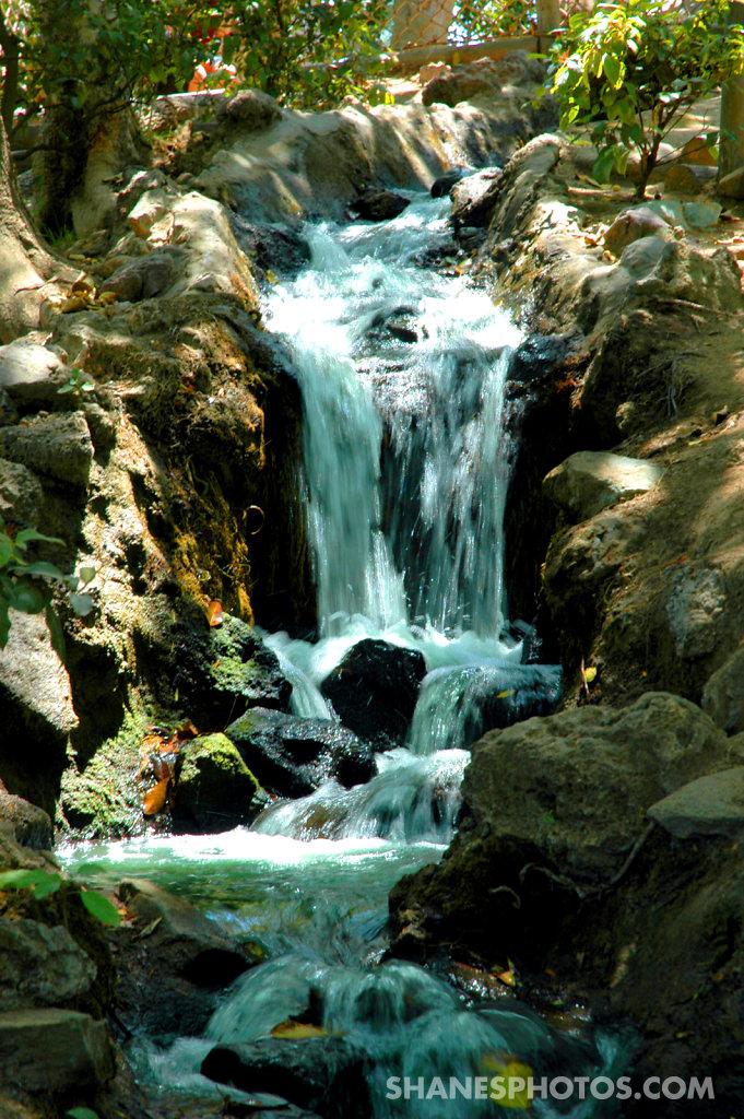 Waterfall on Tom Sawyer Island at Disneyland