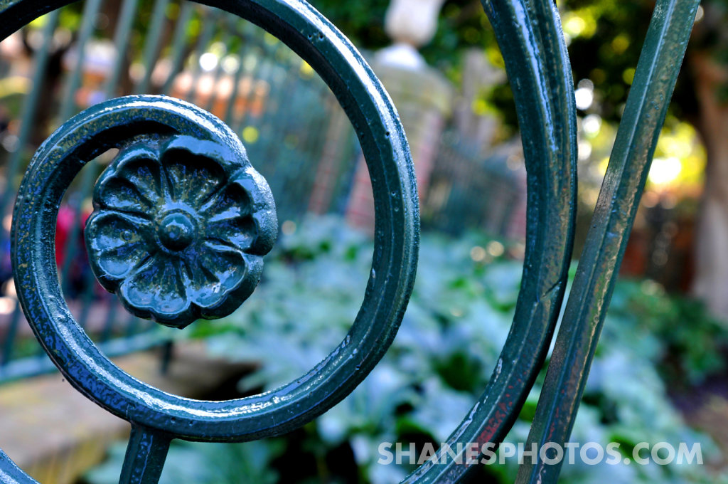 Gate in front of the Haunted Mansion at Disneyland