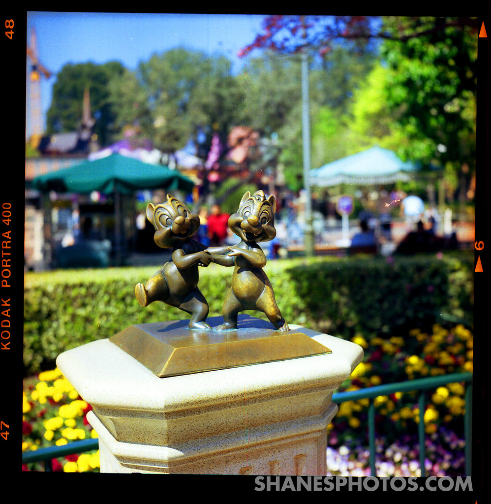 Chip and Dale Statue  at Disneyland