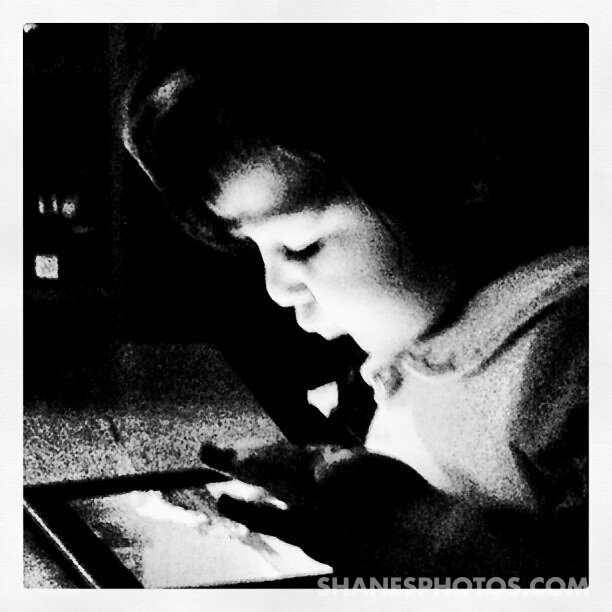 Vanessa playing angry birds